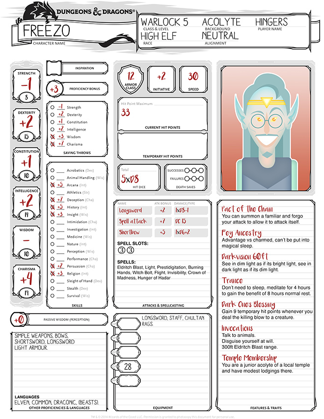 Custom Character Sheet Design : Dragon friends character sheets